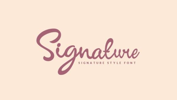 Signature Script Font Free