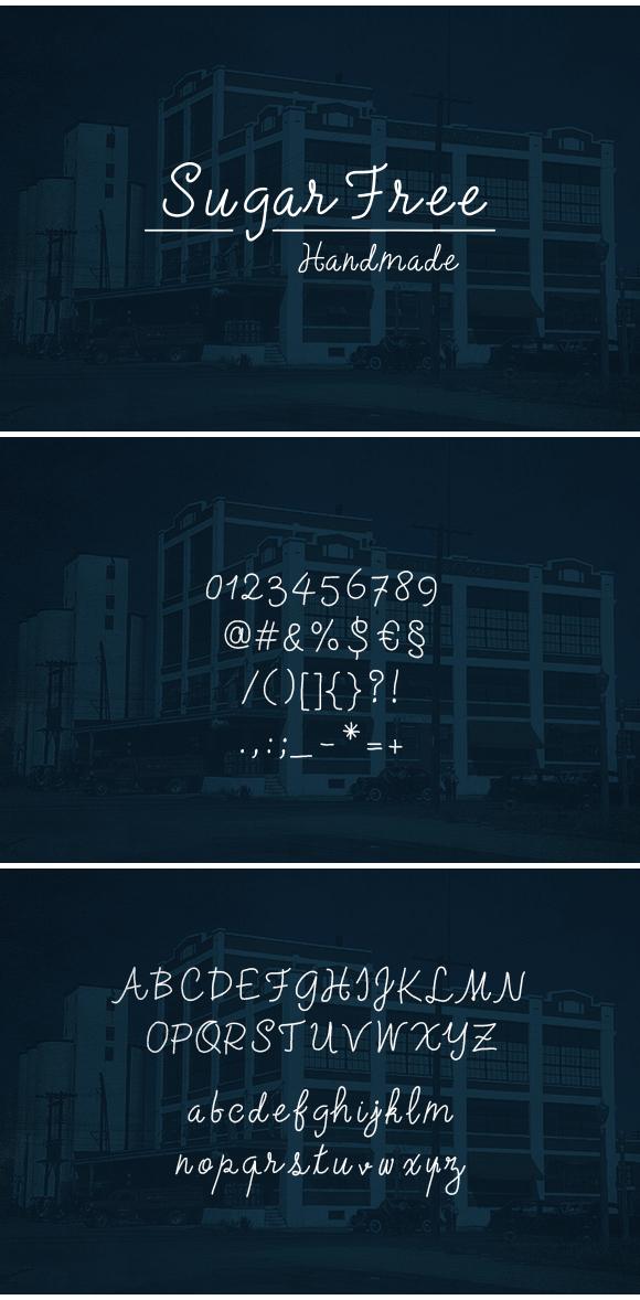 sugarfree-handmade-font