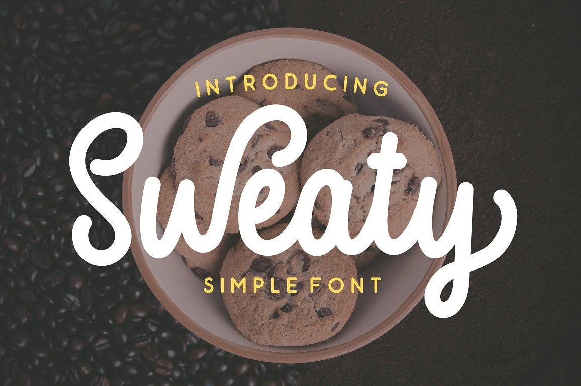 sweaty-script-font