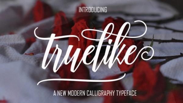 Truelike Script Font Free