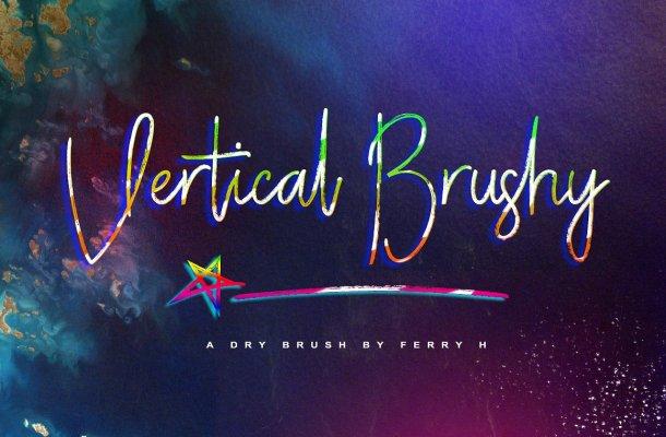 Vertical Brushy Font Free