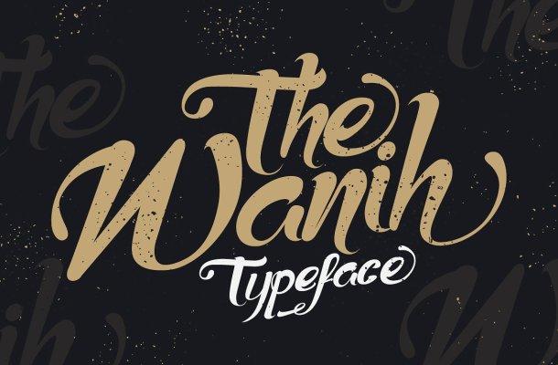 Wanih Script Font Free
