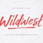 Wildwest Brush Font Free