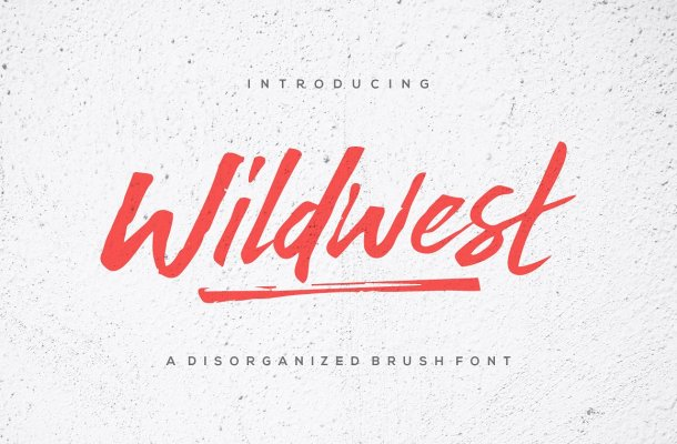 Wildwest Brush Font Free