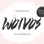 Wolvos Brush Font Free