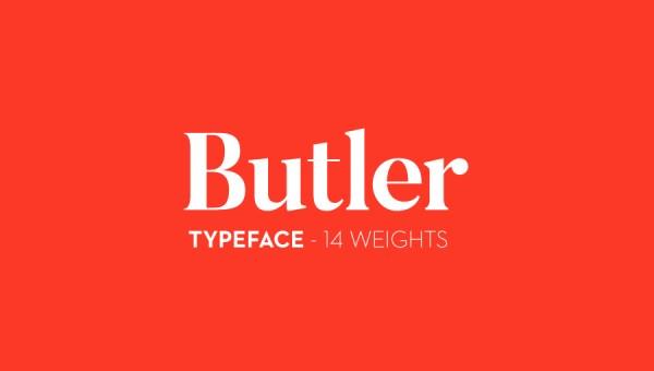 Butler Font Free
