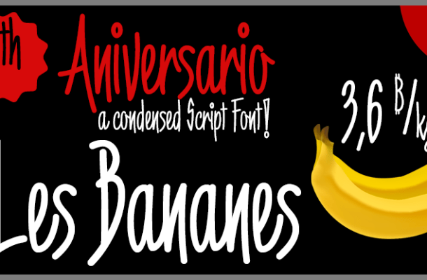 6th Aniversario Font Free