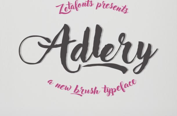 Adlery Brush Font Free