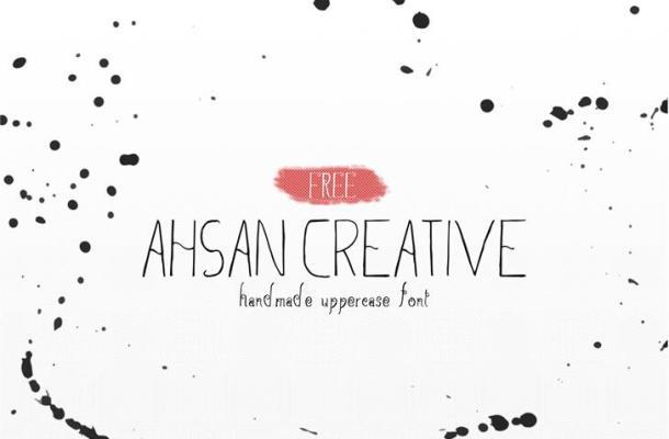 Ahsan Creative Font Free