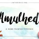 Amulhed Brush Font Free