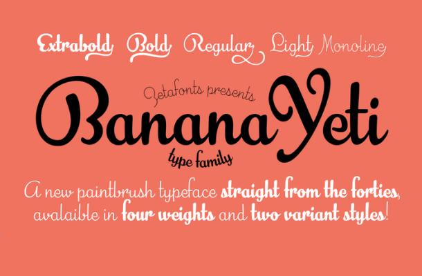 Banana Yeti Font Free