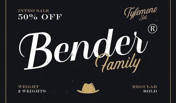 Bender Script Font Free