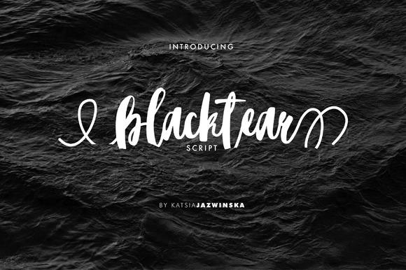 Blacktear Script Font Free