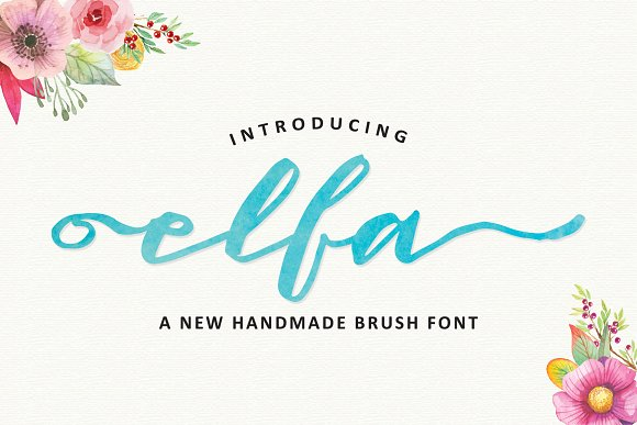 Elfa Brush Font Free