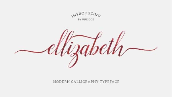 Elizabeth Script Font Free
