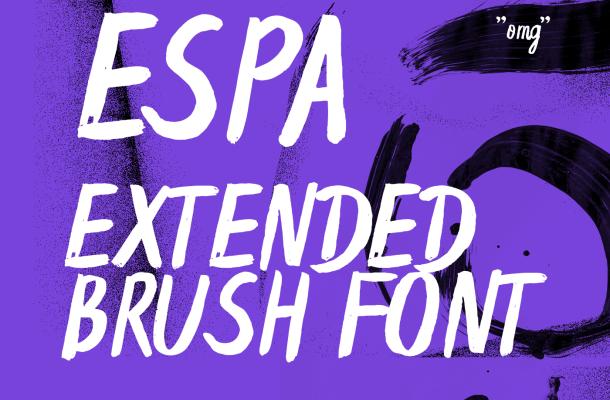 Espa Extended Brush Font Free
