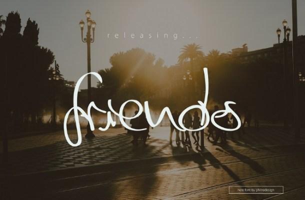 Friends Script Font Free