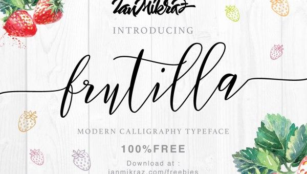 Frutilla Script Font Free