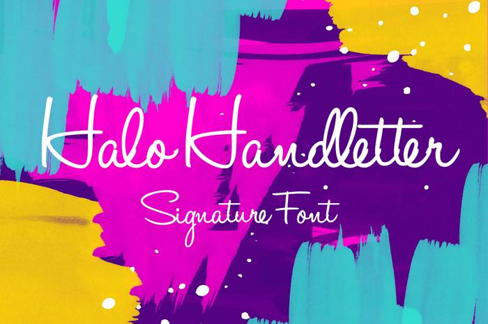 halo-handletter-font