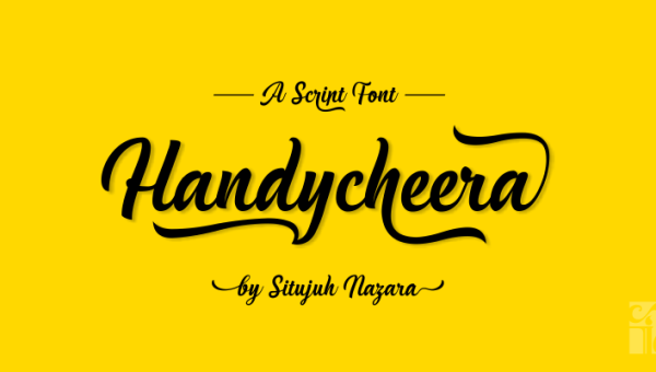 Handycheera Script Font Free