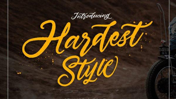 Hardest Stylistic Font Free
