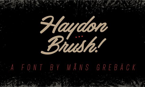Haydon Brush Font Free
