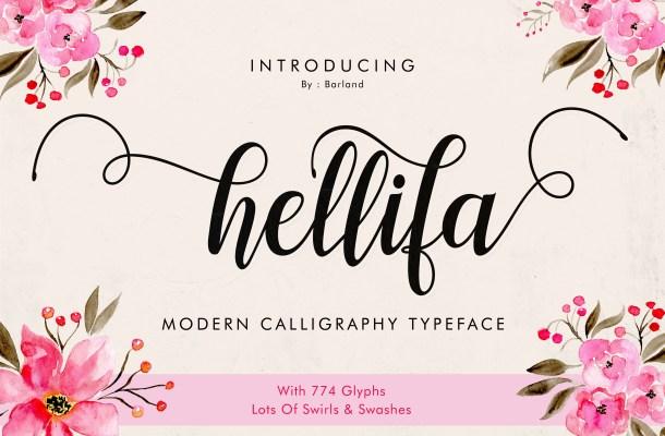Hellifa Script Font Free