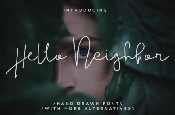 Hello Neighbor Script Font Free