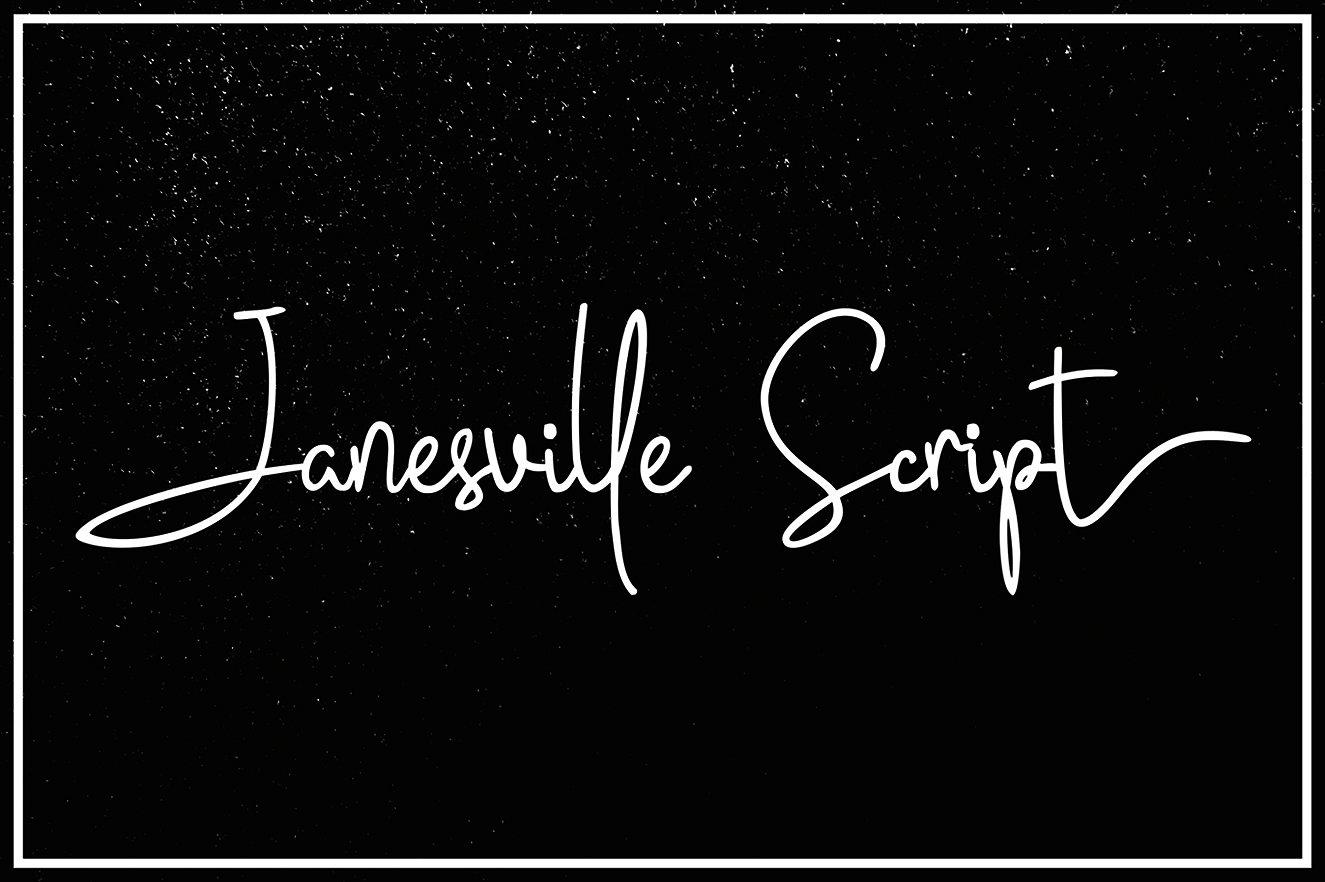 janesville-script
