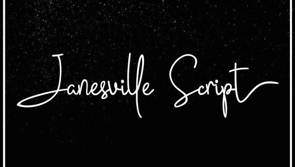 Janesville Script Font Free