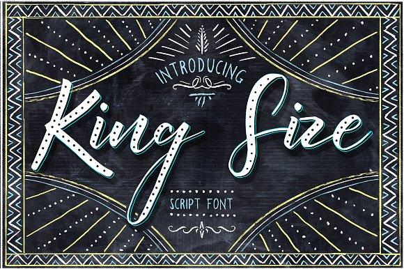 King Size Script Font Free