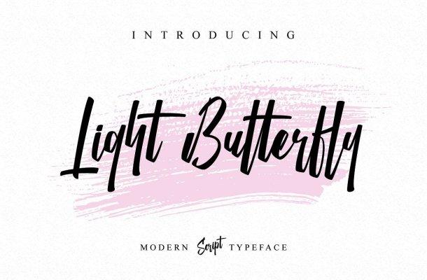 Light Butterfly Script Font Free