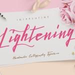 Lightening Script Font Free