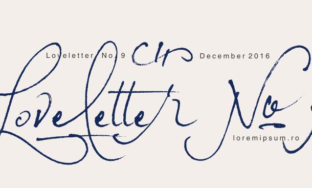 Loveletter No. 9 Font Free