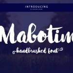 Mabotim Brush Font Free