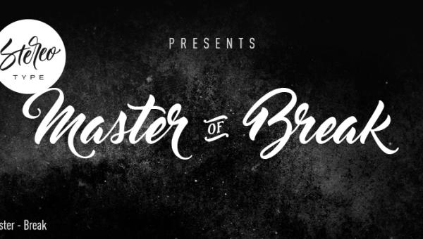 Master of Break Font Free