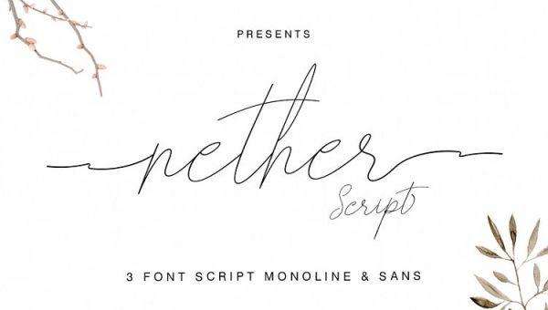 Nether Handwritten Font Free