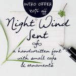 Night Wind Sent Sample Font Free