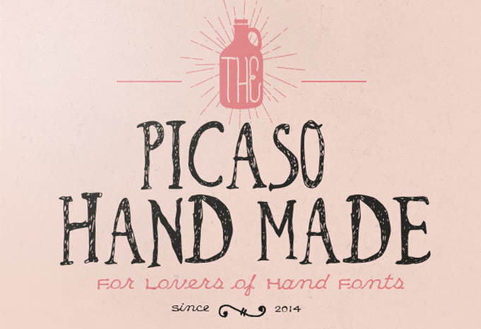 picaso-hand-made-font