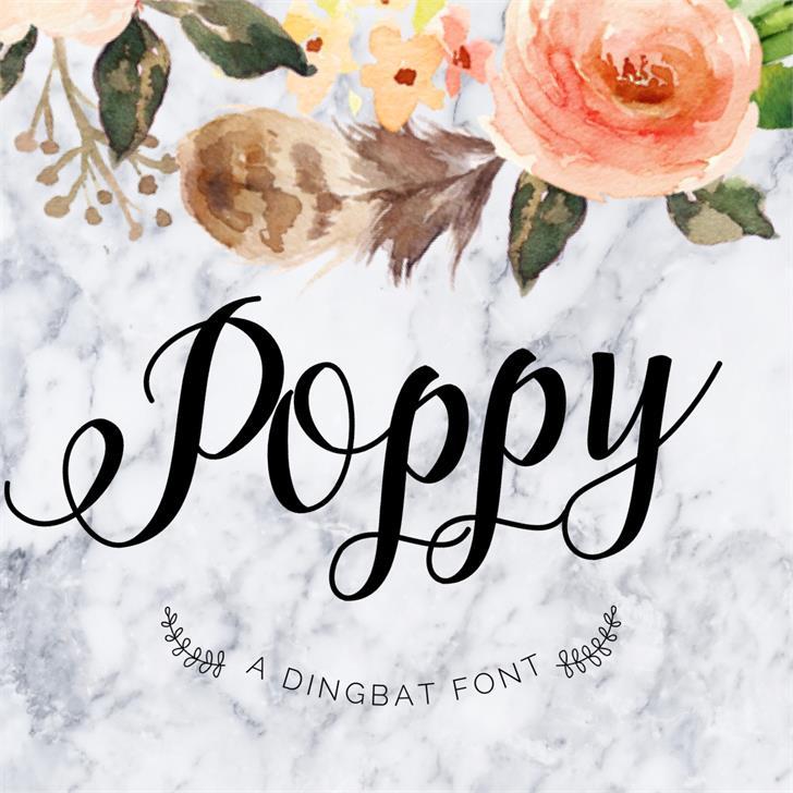 poppy-script-font