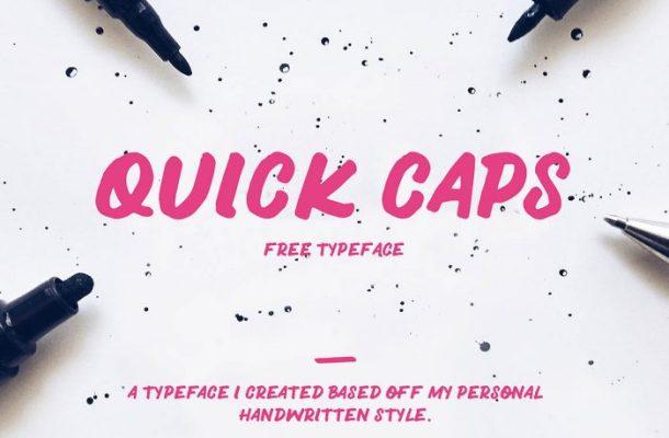 QUICK CAPS Typeface Free