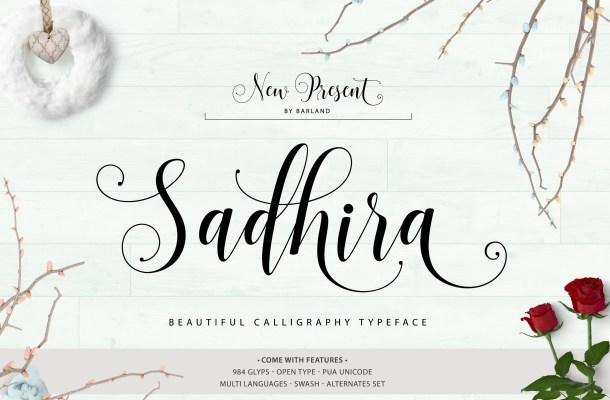 Sadhira Script Font Free