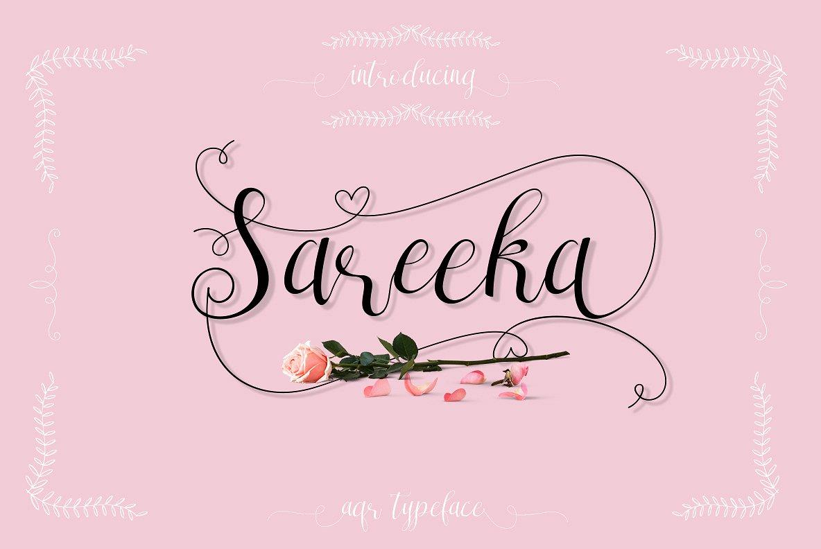 sareeka-script-font