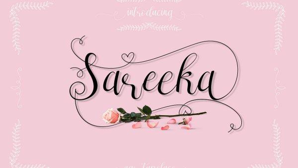 Sareeka Script Font Free