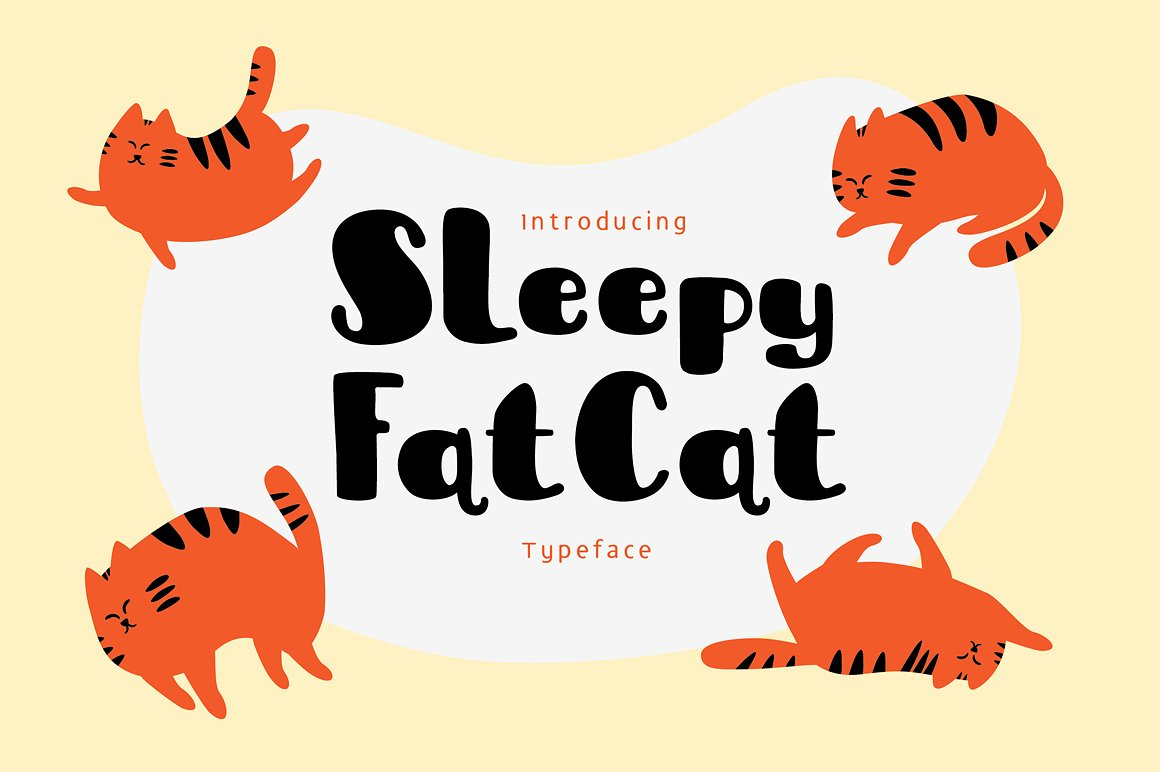 sleepy-fat-cat-typeface