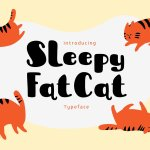 Sleepy Fat Cat Typeface Free