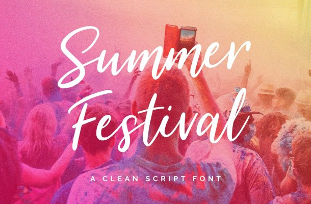 Summer Festival Typeface Free