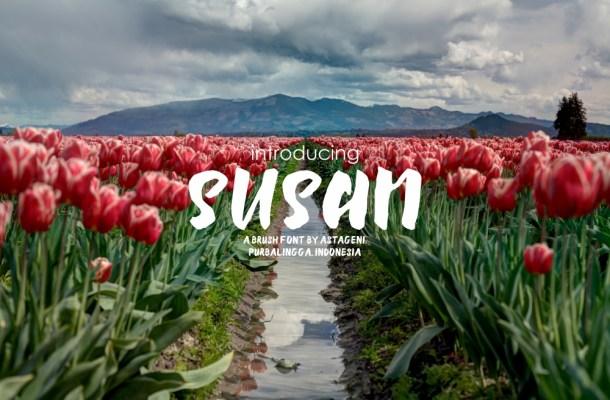 Susan Brush Font Free