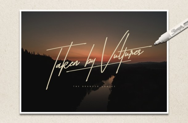 Taken by Vultures Typeface Free