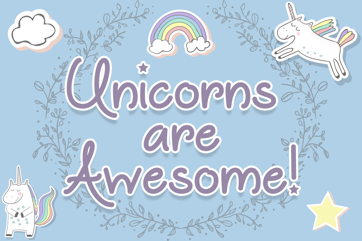 unicorns-are-awesome-font-created-in-2017-by-mistis-fonts